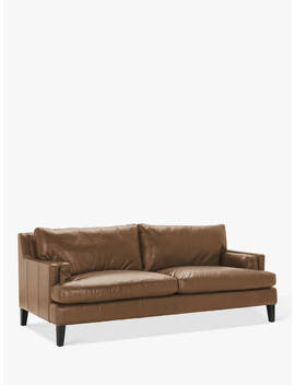Halo Canson Large 3 Seater Leather Sofa, Riders Nut by Halo