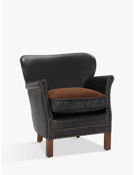 Halo Little Professor Aniline Leather Chair, Napinha Ebony by Halo