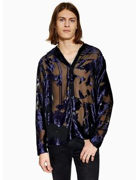 Purple Bird Revere Shirt by Topman