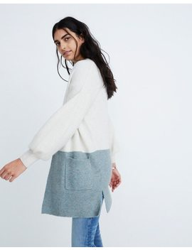 Edgewater Colorblock Cardigan Sweater In Coziest Yarn by Madewell