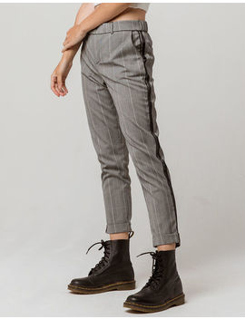 Ivy & Main Plaid Side Stripe Womens Trouser Pants by Ivy & Main