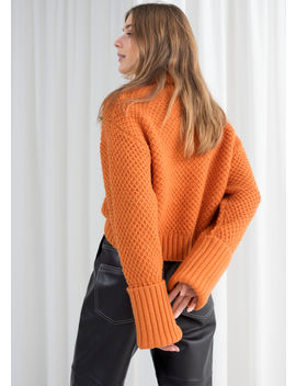 Cropped Wool Blend Turtleneck by & Other Stories
