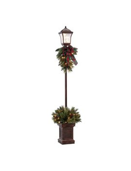 Holiday Time Pre Lit Victorian Lamp Post, 6', Clear Lights by Holiday Time