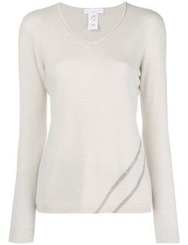 Embellished V Neck Sweater by Fabiana Filippi