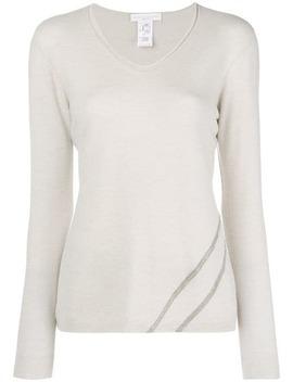 Embellished V Neck Sweater by Fabiana Filippi