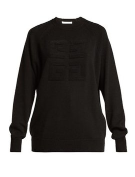 Logo Stitched Cashmere Sweater by Givenchy