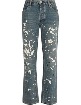 Painted High Rise Boyfriend Jeans by Helmut Lang
