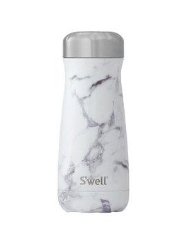 S'well Traveler 465ml (16 Oz.) Stainless Steel Travel Mug   White Marble by Best Buy
