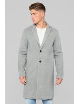 Chadwick Car Coat   Grey by Fashion Nova