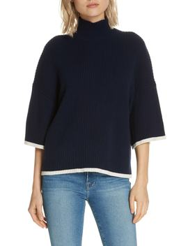 Tipped Wool & Cashmere Sweater by Frame