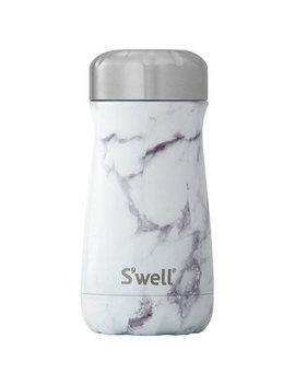 S'well Traveler 355ml (12 Oz.) Stainless Steel Travel Mug   White Marble by Best Buy
