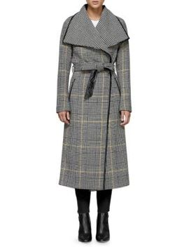 Mai Wool Check Coat by Mackage