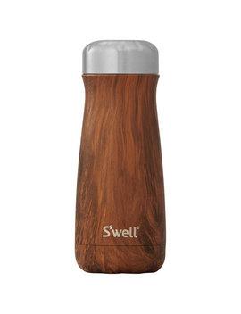S'well Traveler 465ml (16 Oz.) Stainless Steel Travel Mug   Teakwood by Best Buy