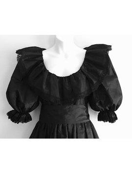 Memento Mori Gothic Schwarz Taft Vintage Kleid ~ Größe Au 8 10 Us 6 8 ~ Mittelalterlichen Lolita Halloween Zombie Prom Kostüm by Etsy