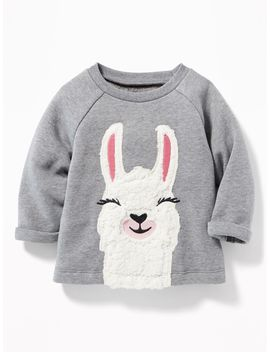 Llama Graphic Raglan Sweatshirt For Baby by Old Navy