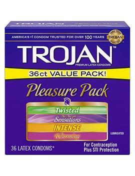 Trojan Pleasure Pack Lubricated Condoms, 36ct by Trojan