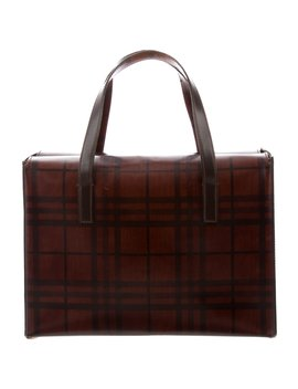 Check Handle Bag by Burberry