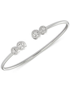Diamond Cluster Bangle Bracelet (1/6 Ct. T.W.) In Sterling Silver, Created For Macy's by Wrapped