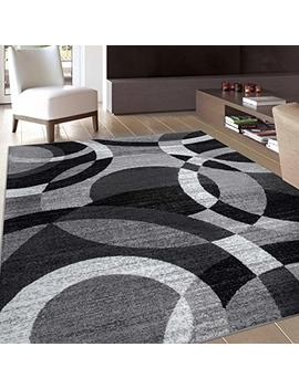 """Rugshop Contemporary Modern Circles Abstract Area Rug, 5'3"""" X 7'3"""", Gray by Rugshop"""