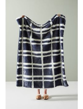 Marrion Faux Fur Throw Blanket by Anthropologie