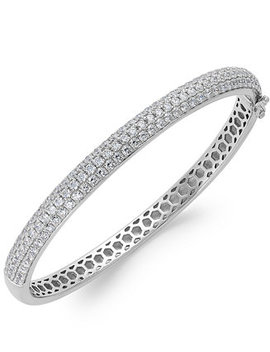 Swarovski Zirconia Pave Bangle Bracelet In Sterling Silver (5 Ct. T.W.) by Arabella