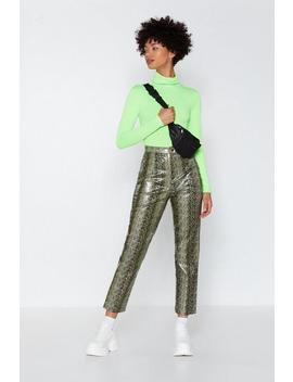 Ff Snake Faux Leather Pants by Nasty Gal