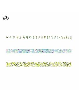 Display08 3pcs Cute Flower Fruit Cartoon Washi Diy Sticky Paper Decor Nastro Adesivo – 5 M 5# by Display08