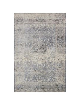 "Magnolia Home Everly Light Blue 3'7""X5'7"" Rug by Magnolia Home By Joanna Gaines Collection"