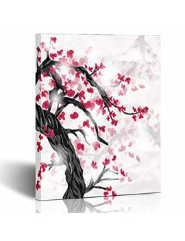 Canvas Prints Wall Art Stretched Framed Tree Oriental Style Painting Antique Blossom Nature Japanese 8 X 10 Inches Modern Painting Home Decor Wrapped Gallery Artwork by Interest Decor