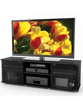Sonax Fb 2600 Fiji 60 Inch Tv Component Bench, Ravenwood Black by Sonax