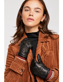 Houston Embossed Leather Gloves by Free People
