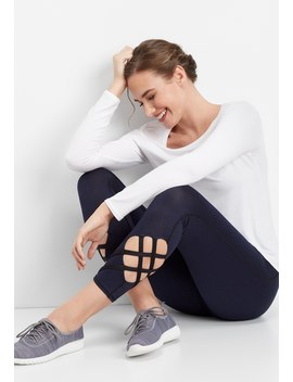 Lattice Hem 7/8 Active Legging by Maurices