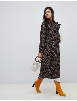 Asos Design – Trenchcoat Mit Tierdruck by Asos