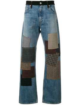 Patchwork Straight Leg Jeans by Junya Watanabe Man