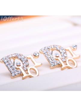 Women Jewelry 18k Gold Studs Women's Earrings by I Offer