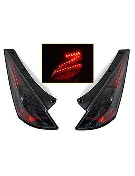 """Jdm Black""""Z Style"""" Led Tail Lights By Depo Fit For 2003 2005 Nissan 350z Z33 by Re Vi Motor Werks"""