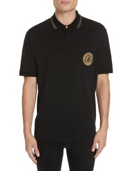 Medusa Face Polo by Versace