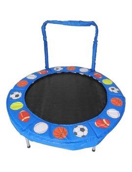 Jump King Trampoline 4 Foot Bouncer For Kids, Blue Sport Balls by Jumpking