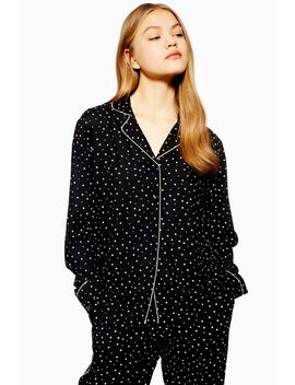 Star Print Pyjama Shirt by Topshop