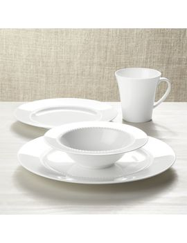 White Pearl Dinnerware by Crate&Barrel
