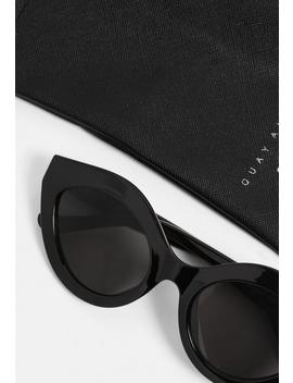 Quay Australia Good Night Kiss Black Sunglasses by Missguided