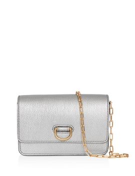 Mini Metallic Leather D Ring Shoulder Bag by Burberry