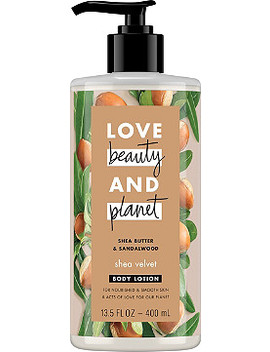 Shea Butter & Sandalwood Shea Velvet Body Lotion by Love Beauty And Planet