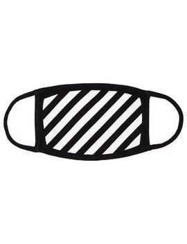 Black And White Striped Cotton Mask by Off White