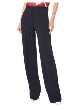 Navy Wide Leg Trousers by Victoria Beckham