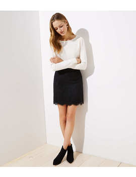 Scalloped Lace Skirt by Loft