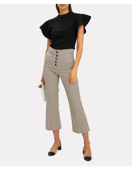 Flounce Sleeve Knit Top by Victoria, Victoria Beckham