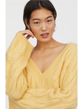 ウールブレンド ケーブルニットセーター by H&M