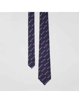 Modern Cut Archive Logo Print Silk Tie by Burberry