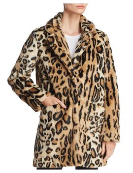 Margot Leopard Print Faux Fur Coat by Apparis